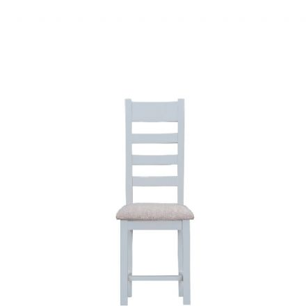 Toulouse Grey Ladder Back Chair Fabric Seat